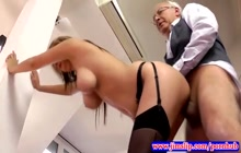 Perfect schoolgirl fucking with an old dude