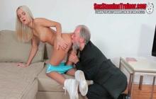 Perverted Old Man Licks A Schoolgirl
