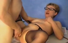 Russian mature teacher fucks a student
