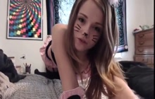horny teen loves dressing up and masturbating