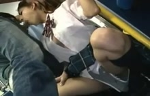 School girl screwed in a bus